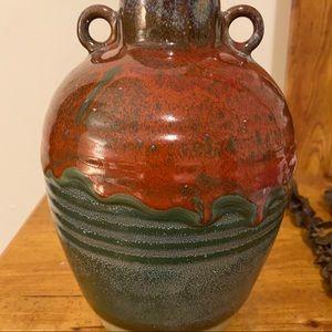 None Accents - BOHEMIAN pottery vase handmade dipped ceramic boho